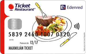 Edenred Ticket Restaurant Card